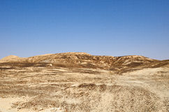 Arava Desert. The hottest, southern stretch of the Arabah(Arava), Israel Royalty Free Stock Images