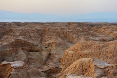 Arava desert in the first rays of the sun Stock Photography