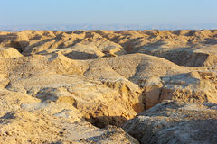 Arava desert in the first rays of the sun. Arava desert (southern Israel) in the first rays of the sun Royalty Free Stock Photos