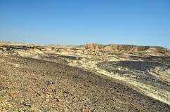 Arava Desert. Fragment of the southern stretch of the Arabah(Arava), Israel Royalty Free Stock Photo