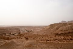 Arava desert in Israel - hiking and adventure Royalty Free Stock Image