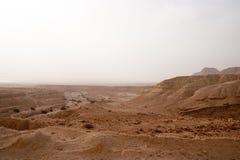 Arava desert in Israel - hiking and adventure. Travel in stone desert of Israel near Dead sea Royalty Free Stock Image