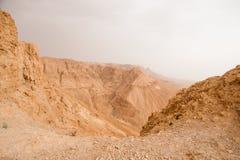 Arava desert in Israel - hiking and adventure. Travel in stone desert of Israel near Dead sea Stock Photography