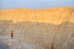 Arava desert in the last rays of the sun. Arava desert (southern Israel) in the last rays of the sun Stock Photo