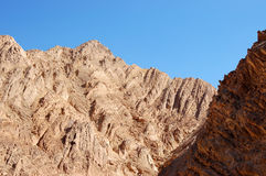 Arava desert mountains. Royalty Free Stock Photos