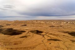 Arava desert travel in Israel at evening Royalty Free Stock Photos