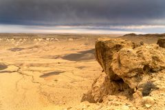 Arava desert travel in Israel at evening Royalty Free Stock Photography