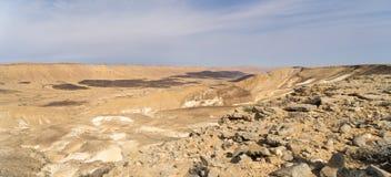 Arava desert travel in Israel. Hiking in mideast stone desert tourism Royalty Free Stock Photos