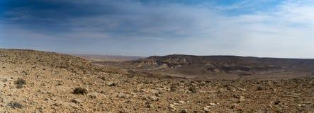 Arava desert travel in Israel. Hiking in mideast stone desert tourism Royalty Free Stock Image