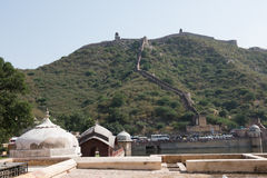 Aravalli Hills and Amer Fort Royalty Free Stock Images