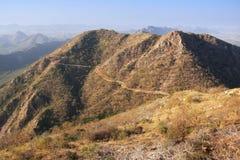 Aravalli hills, Rajasthan, India. Aravalli hills near Udaipur, Rajasthan, India Royalty Free Stock Photos
