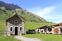 Aravis通行证的教堂  免版税图库摄影