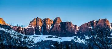 aravis Γαλλία ι κορυφή σειράς βουνών Στοκ Εικόνα