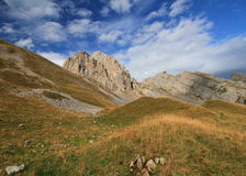 Aravis, mountain landscape. During summer. French Alps, Savoy Royalty Free Stock Photos