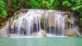 Arawan Beautiful natural waterfall. In Southeast Asia stock video