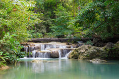 Arawan Forest Waterfall in Kanchanaburi, Thailand. Royalty Free Stock Images