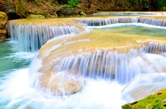 Arawan waterfall at Thailand Royalty Free Stock Photography