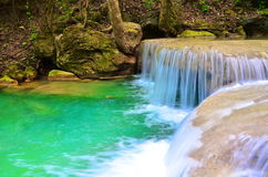 Arawan waterfall at Thailand Royalty Free Stock Photos