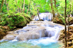 Arawan waterfall at Thailand Stock Image