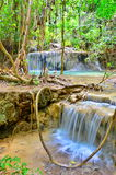 Arawan waterfall at Thailand Stock Photo