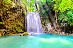 Arawan waterfall at Thailand Royalty Free Stock Photo