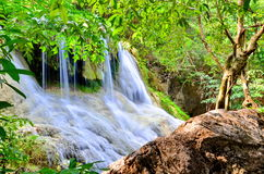 Arawan waterfall at Thailand Stock Images