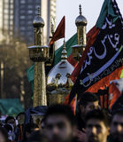 Arbaeen 2013 London. London, Englad - December 29, 2013 : Shiite mourners  during Arbaeen/Chehlum Procession of Hazrat Imam Hussain (AS) on December 29, 2013, in Stock Image
