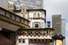 Arbat, Moscow. The old building on Arbat Street in Moscow Royalty Free Stock Photo