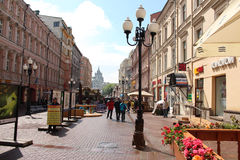 The Arbat street. In Moscow Stock Images