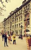 Arbat zwyczajna ulica, Moskwa, Rosja Zdjęcie Royalty Free