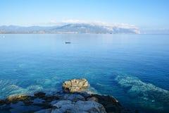 arbatax γνωστοί η Ιταλία porphyry κόκκινοι βράχοι Στοκ Φωτογραφίες