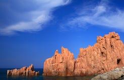 arbatax κόκκινες πέτρες Στοκ φωτογραφία με δικαίωμα ελεύθερης χρήσης
