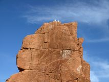 Arbatax with the known red porphyry rocks, Sardinia Stock Images