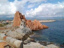 Arbatax - Red Rocks. View of the red rocks (Arbatax - Sardinia Royalty Free Stock Images