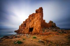 Arbatax rocks. Red Rocks in Arbatax on Sardegna Island, Italy Royalty Free Stock Photography