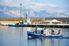 Arbatax sea port, Sardinia, Italy. Stock Photography