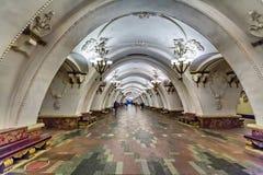 Arbatskaya station av Moskvatunnelbanan Fotografering för Bildbyråer