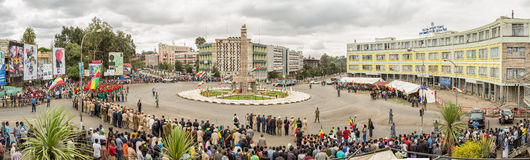 Arbegnoch Qen - Patriots' Day. Addis Ababa - May 5: Ethiopian celebrate the 74th anniversary of Patriots' Victory day commemorating Ethiopa's victory over the Stock Photo