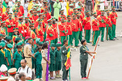 Arbegnoch Qen - Patriots' Day. Addis Ababa - May 5: Men, Women and Children in colourful uniforms attend the 74th anniversary of Patriots' Victory day Royalty Free Stock Photography