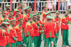 Arbegnoch Qen - Patriots' Day. Addis Ababa - May 5: Men, Women and Children in colourful uniforms attend the 74th anniversary of Patriots' Victory day Royalty Free Stock Photos