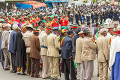 Arbegnoch Qen - Patriots' Day. Addis Ababa - May 5: Arbegnoch, Patriots and old war veterans attend the 74th anniversary of Patriots' Victory day commemorating Stock Photos