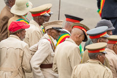Arbegnoch Qen - Patriots' Day. Addis Ababa - May 5: Arbegnoch, Patriots and old war veterans attend the 74th anniversary of Patriots' Victory day commemorating Royalty Free Stock Images