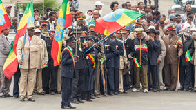 Arbegnoch Qen - Patriots' Day. Addis Ababa - May 5: Arbegnoch, Patriots and old war veterans participate at the 74th anniversary of Patriots' Victory day Royalty Free Stock Image