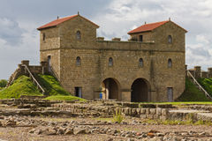 Arbeia Roman Fort. Gatehouse and foundations of Roman fort in South Shields, England Stock Photography