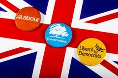 Arbeid, Conservatieven en Liberale Democraten royalty-vrije stock afbeelding