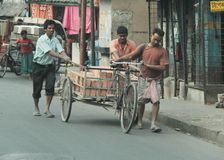 Arbeid in Kolkata Stock Afbeeldingen