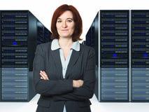 Arbeider in datacenter Stock Fotografie