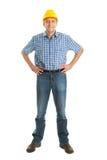 Arbeider die bouwvakker draagt Royalty-vrije Stock Afbeelding