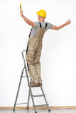 Arbeider die van ladder vallen Royalty-vrije Stock Afbeelding