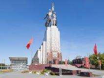 Arbeider en Collectief Landbouwbedrijf, de beeldhouwer Vera Mukhina Royalty-vrije Stock Fotografie